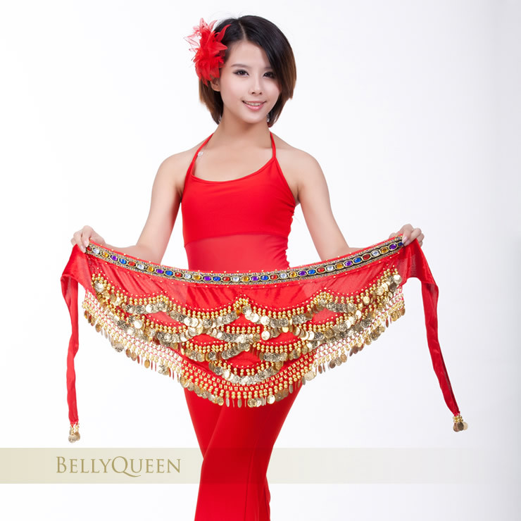 Dancewear Velvet Belly Dance Performance Hip Scarf For Ladies