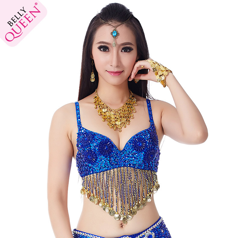 Plus Size Dancewear Polyester Belly Dance Bra Tops For Ladies