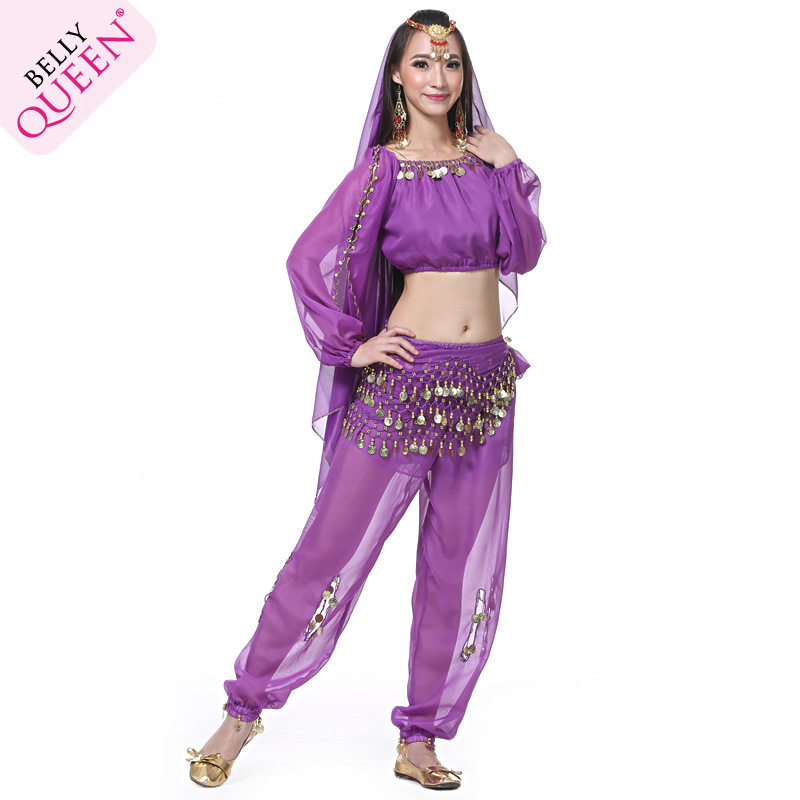 Dancewear Chiffon Indian Belly Dance Costumes For Ladies
