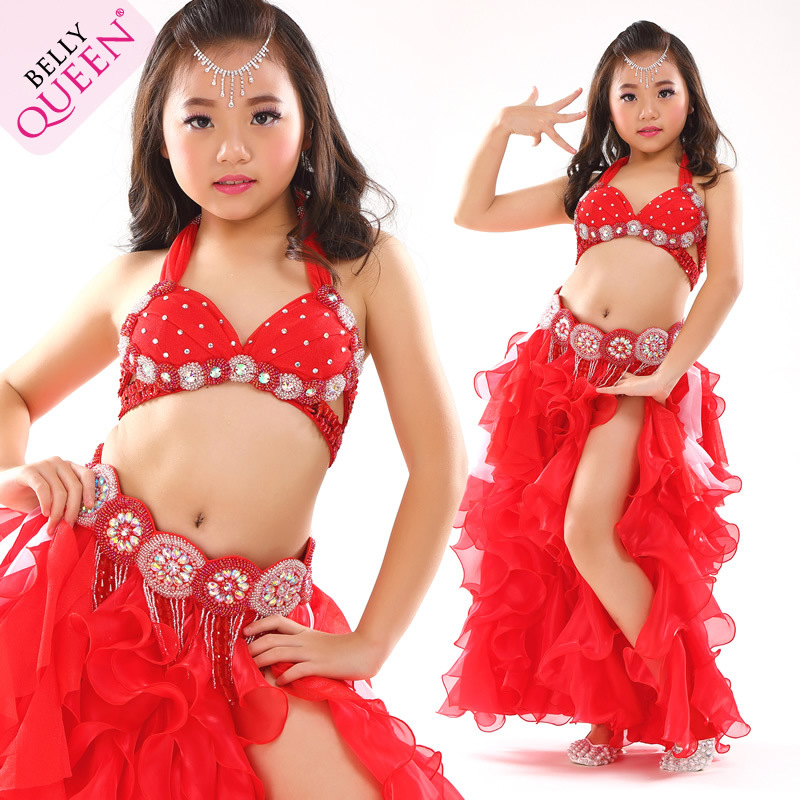Dancewear Polyester Belly Dance Costume For Kids