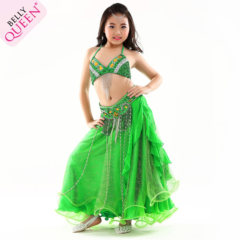 3 Pcs Dancewear Polyester Belly Dance Costumes For Kids