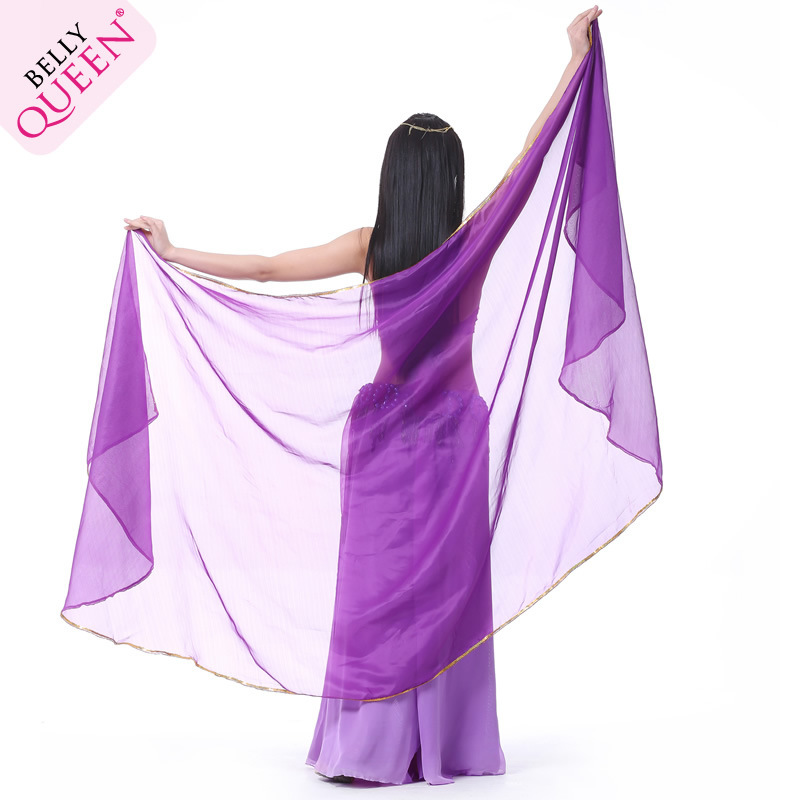 Dancewear Chiffon Half Circle Belly Dance Veil For Women 250 cm*