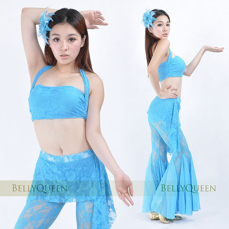Light Blue Costume Belly Dance For Ladies 811634016-light blue