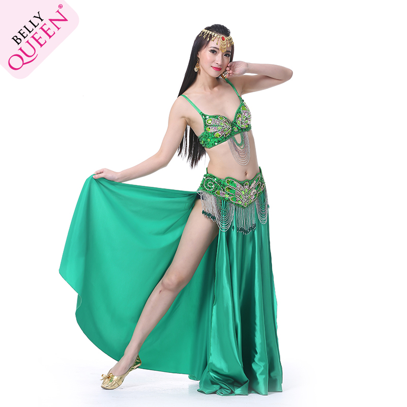2 Pieces Dancewear Polyester Belly Dance Performance Costumes Fo