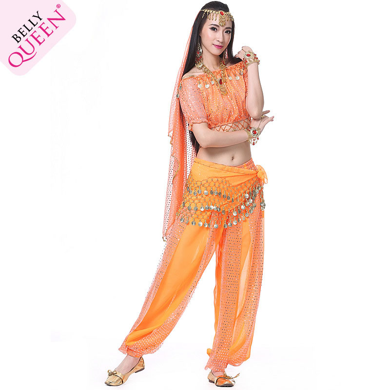 Dancewear Polyester Arabic Belly Dance Costumes For Ladies