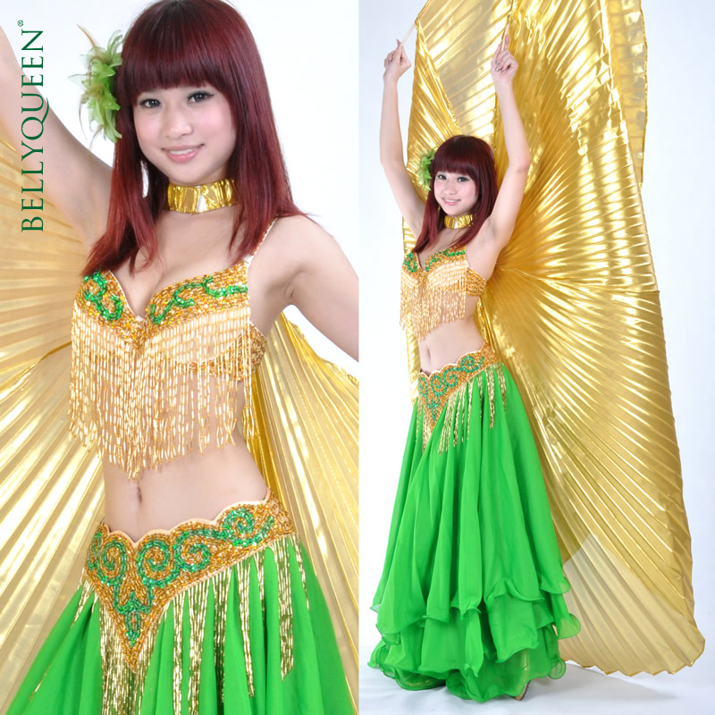 Dancewear Polyester Belly Dancing Costumes For Ladies