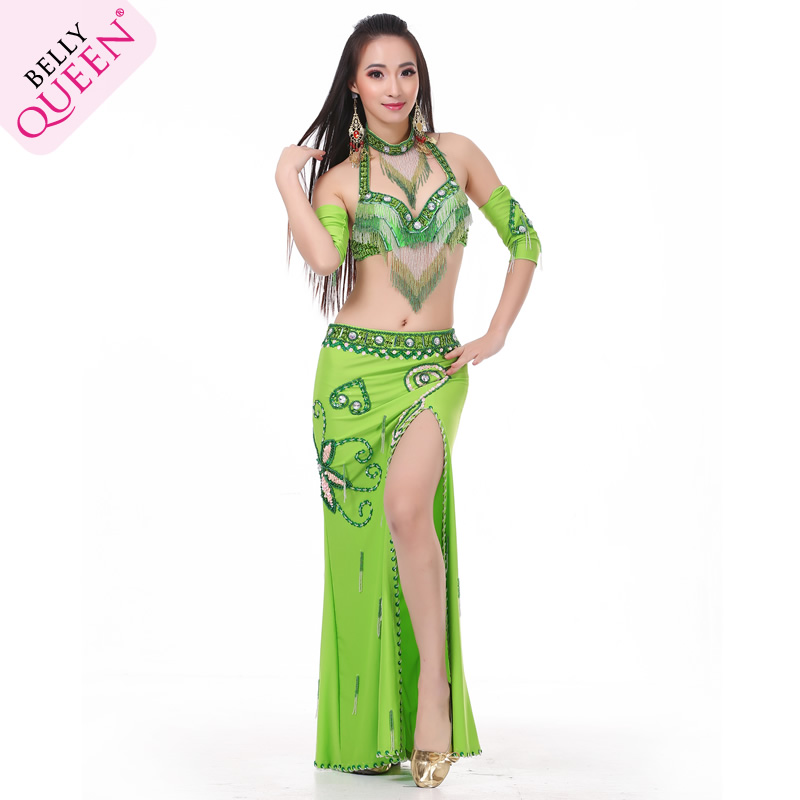 5 Pcs Dancewear Polyester Belly Dance Performance Costumes For W