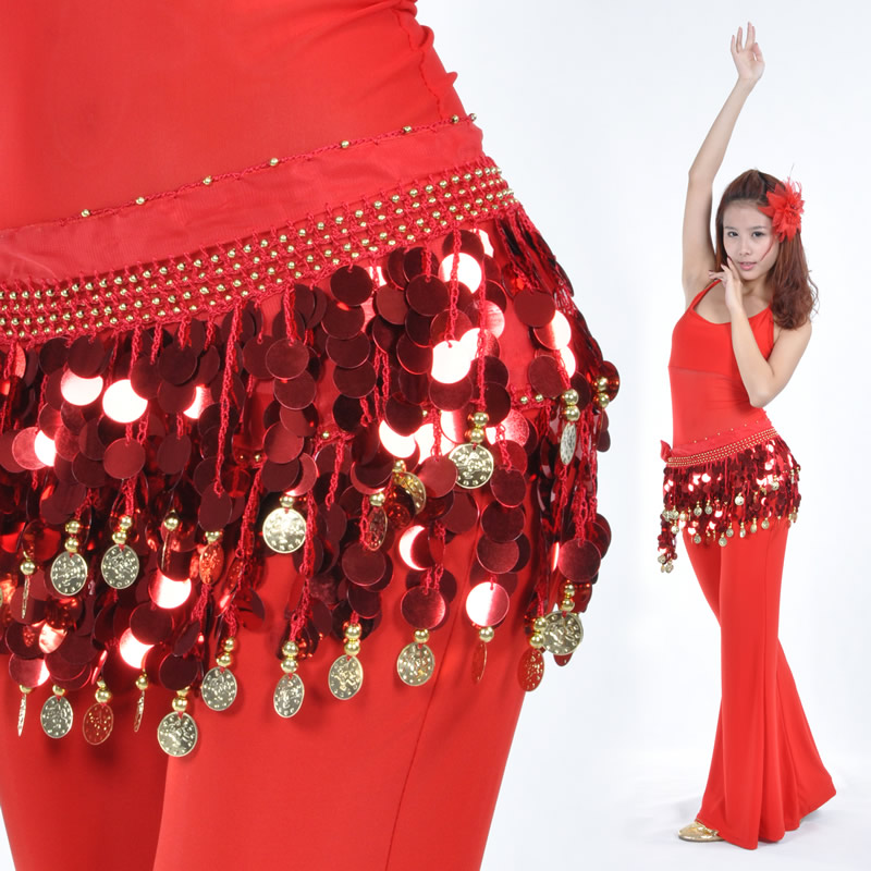Dancewear Chiffon Belly Dance Performance Hip Scarf For Ladies