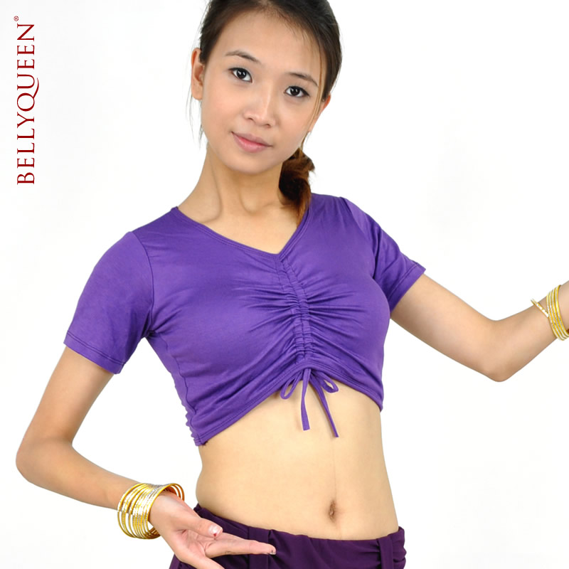 Dancewear Polyester Belly Dance Tops For Ladies 9 Colors